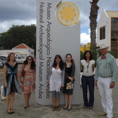 Outside the National Archaeological Museum Aruba