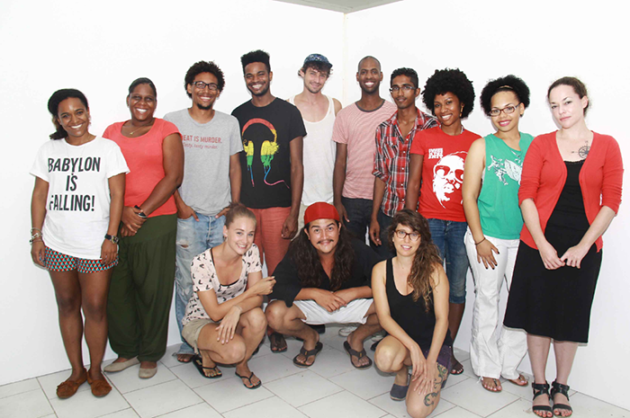 Participating artists and curators of Caribbean Linked II. Picture originally featured in the September 4th 2013 edition of 'The Morning News', Aruba.