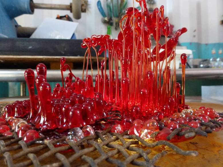 Detail of Diego Espinosa 'Glass Chimes / Blood Crimes'. Photo by Annalee Davis.