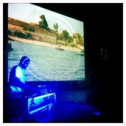 Nile Saulter screening his work 'Here I Am'