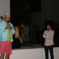 Elvis Lopez and Humberto Diaz at the Caribbean Linked IV Opening