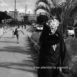 Adam Patterson, Video still from performance, Lookalook, filmed by Logan C. Thomas, Bridgetown, Barbados, 2018