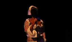 Adam Patterson, Photograph from performance, Barbados Mulatto Girl, Mobba-Ton Theatre Festival, Performing Hall, Barbados Community College, Barbados, 2018