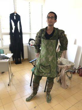 Adam Patterson en parte de su disfraz 'Buchibushi'. Foto cortesía de Miguel López