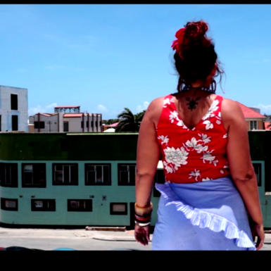Still shot from Sharelly Emanuelson's video piece 'En mi pais', 2018.