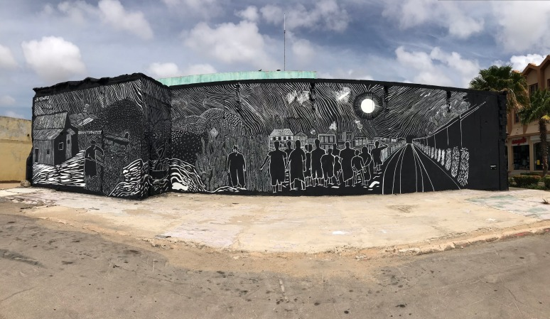 Irvin Aguilar, La Linea en la Memoria, Mural, 2018